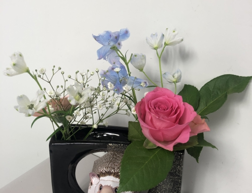 母の日生花教室(ミニアレンジ)開催!